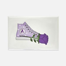 Walk a Mile in My Shoes Lupus Bla Rectangle Magnet