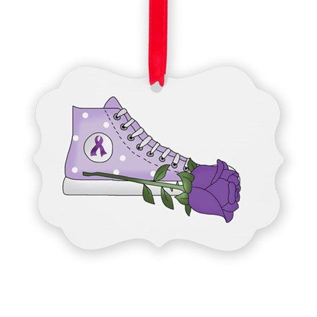 Walk a Mile in My Shoes Lupus Bla Picture Ornament