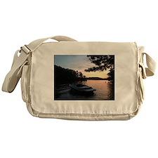 Lake Sunset Messenger Bag