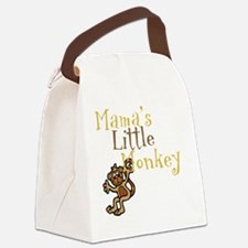 Mamas Little Monkey Canvas Lunch Bag