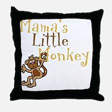 Mamas Little Monkey Throw Pillow