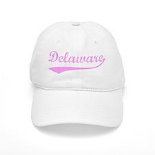 Vintage Delaware (Pink) Baseball Cap
