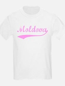 Vintage Moldova (Pink) Kids T-Shirt