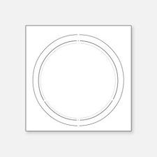 "Peace Row White Square Sticker 3"" x 3"""