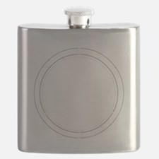 Peace Row White Flask