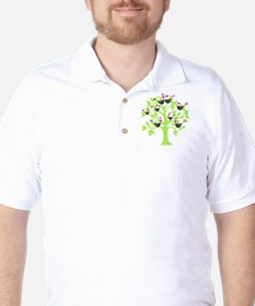 lovebirds sitting in a tree K-I-S-S-I-N Golf Shirt