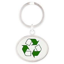 10 Oval Keychain