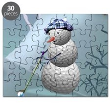 Golf Ball Snowman Christmas Puzzle