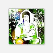 """Green Quan Yin Square Sticker 3"""" x 3"""""""
