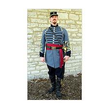 Confederate Reenactor Notecard Decal