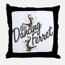 Dancing Ferret Throw Pillow