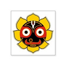 "Jagannath Square Sticker 3"" x 3"""