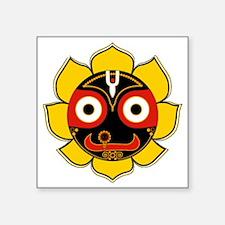 "Jagannath Square Sticker 3"" x 3"""