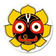 Jagannath Round Car Magnet