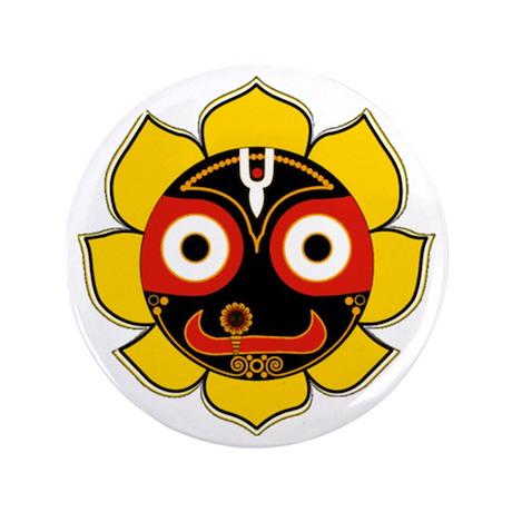 """Jagannath 3.5"""" Button"""