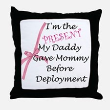 Present from Daddy-Girl Throw Pillow