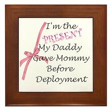 Present from Daddy-Girl Framed Tile