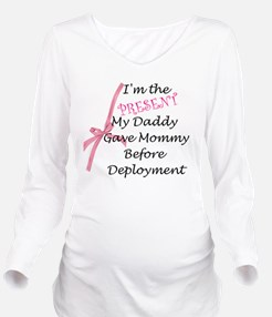Present from Daddy-G Long Sleeve Maternity T-Shirt