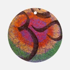 chakraomlrge Round Ornament