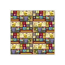"KristieHublerBabyBoyFabric Square Sticker 3"" x 3"""