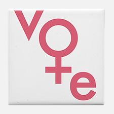 Women Vote Tile Coaster