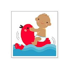 "brown boy baby t shirt Square Sticker 3"" x 3"""