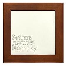 Irish Setter3Romney-dark Framed Tile