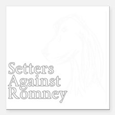"Irish Setter3Romney-dark Square Car Magnet 3"" x 3"""
