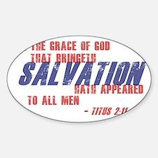 Titus 2 11 Sticker (Oval)
