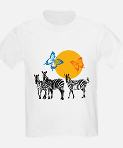 Hendrix - Little Wing (Butterflies and Zebras) T-S