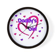 Funny Daddy's girl Wall Clock