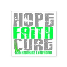 "D LYMPHOMA NON D Square Sticker 3"" x 3"""