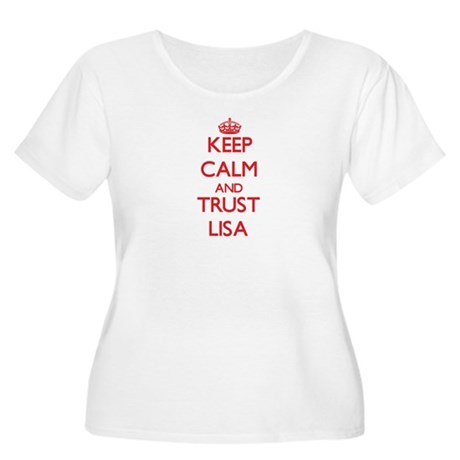 Keep Calm and TRUST Lisa Plus Size T-Shirt