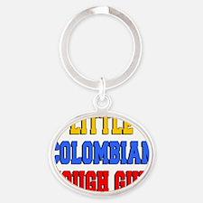 Little Colombian Tough Guy Oval Keychain