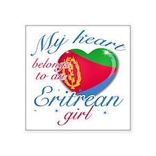 """eritrean. girl Square Sticker 3"""" x 3"""""""