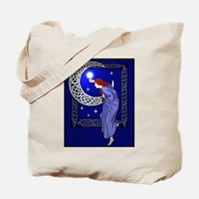 Celtic Moon Woman Tote Bag