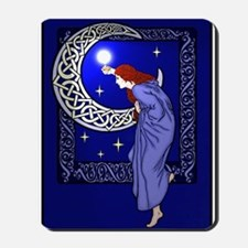 Celtic Moon Woman Mousepad