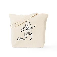 scruffy cat Tote Bag