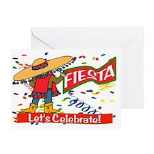fiesta cowboy Greeting Card