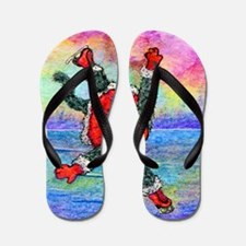 she practiced constantly saturated Flip Flops