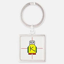 1x1_buttonJustK Square Keychain