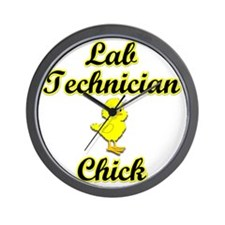 Lab Technician Chick Wall Clock