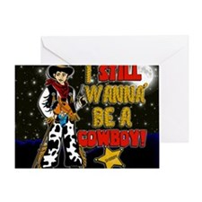 cowboy-STADIUM-BLANKET.gif Greeting Card