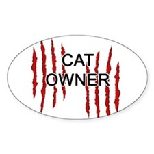 Cat Owner Claws Decal