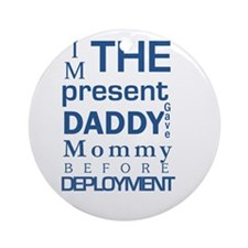 Present From Daddy Boy Round Ornament