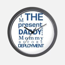 Present From Daddy Boy Wall Clock