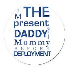 Present From Daddy Boy Round Car Magnet