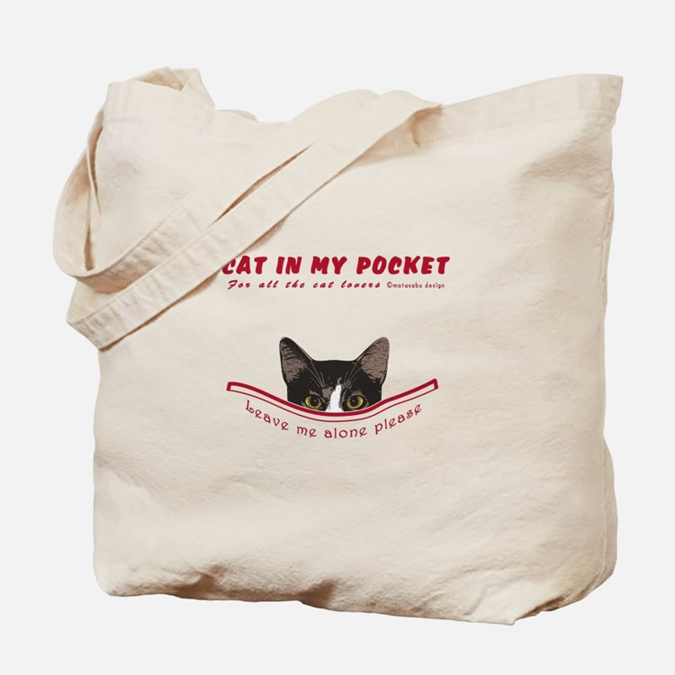 CAT IN MY POCKET Tote Bag