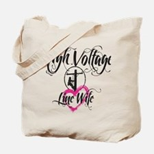 high voltage line wife white shirt Tote Bag