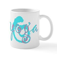 yoga swirl photocopy aqua pink II Mug